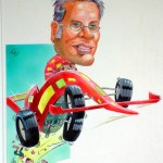 CAricature Jacques Villeneuve
